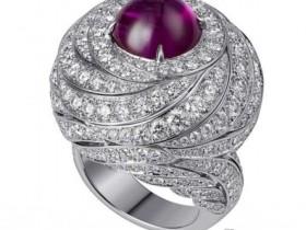 天然缅甸星光红宝石戒指