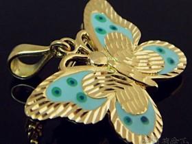 蝴蝶结吊坠 一款既纯真又妩媚的金饰