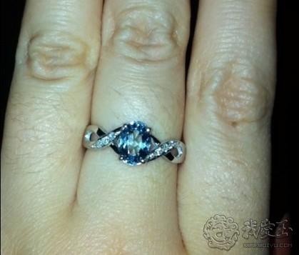 一见倾心只为你,海蓝宝戒指