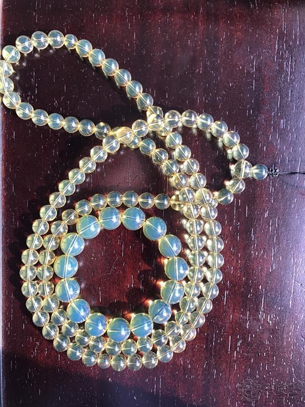 当珠宝遇上文玩-分享一些好看的蓝珀和文玩珠子美美的搭配例子吧