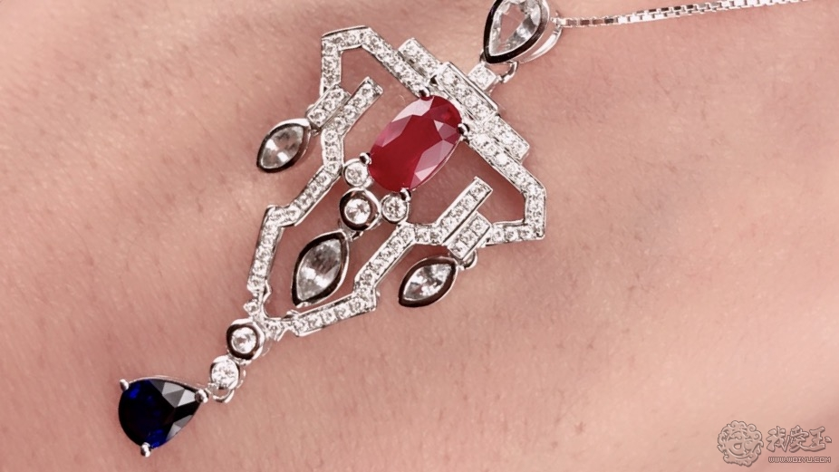 一个很个性的红宝石吊坠